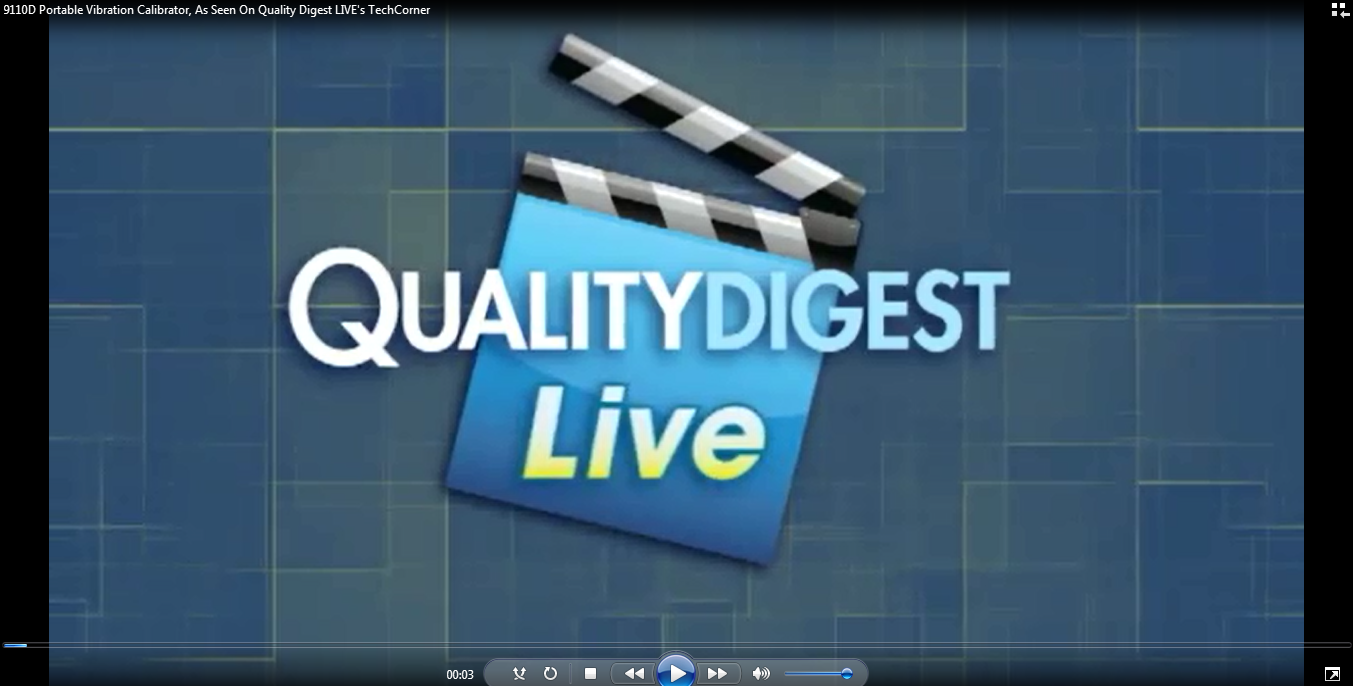 9110D Portable Vibration Calibrator, As Seen On Quality Digest LIVE